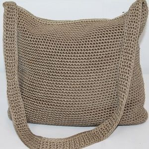 The Sak Crochet Purse Shoulder Bag Tan Brown